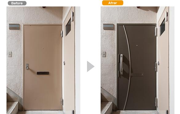 マンション玄関ドア、リフォーム